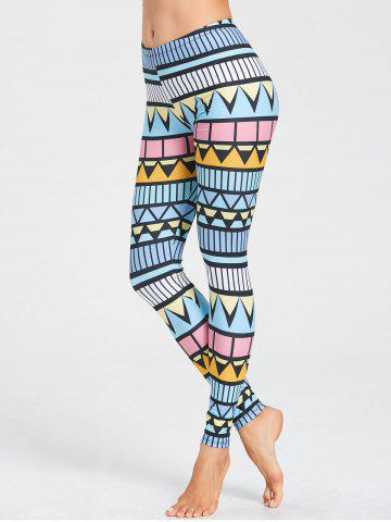 Discount Skinny Triangle Printed Workout Leggings