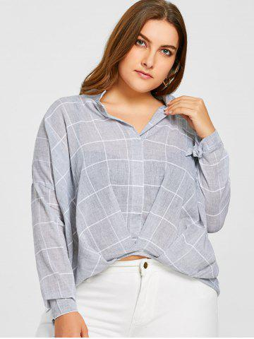 Outfits Grid High Low Plus Size Blouse