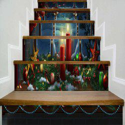 Christmas Decorations Print Stair Stickers -