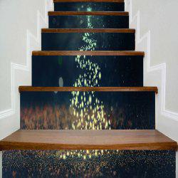 Sparkling Christmas Tree Printed Decorative Stair Stickers -