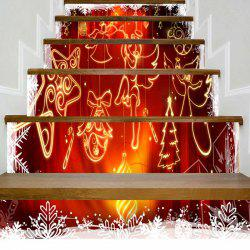 Christmas Ornaments Angel Printed Stair Stickers -