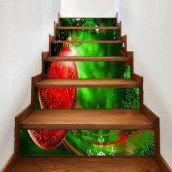 Christmas Ball and Snowflake Printed Decorative Stair Stickers -