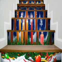 Christmas Candles Printed Decorative Stair Stickers -