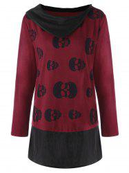 Plus Size Skulls Tunic Top -