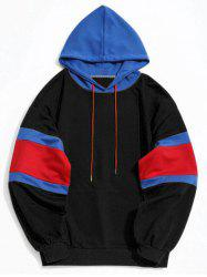 Color Block Kangaroo Pocket Mens Hoodie -