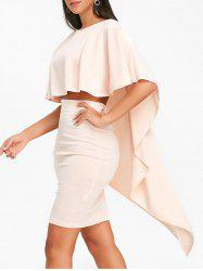 High Low Cape and Bodycon Skirt -