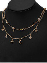 Charm Moon Star Chain Necklace Set -