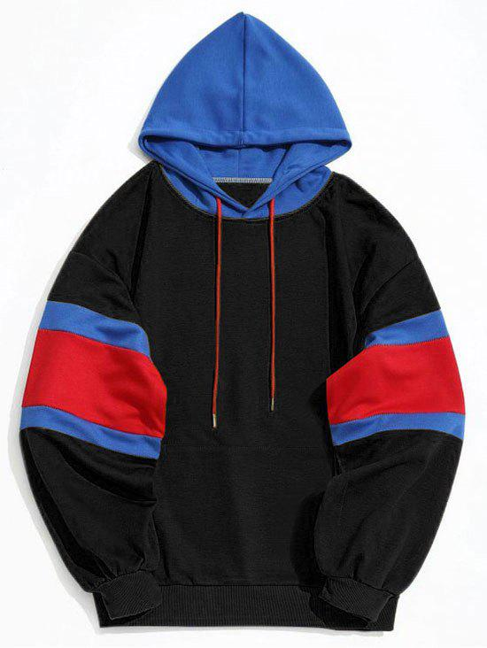 Best Color Block Kangaroo Pocket Mens Hoodie