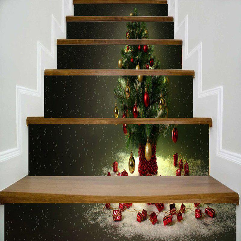 Best Christmas Tree Pattern Decorative Stair Stickers