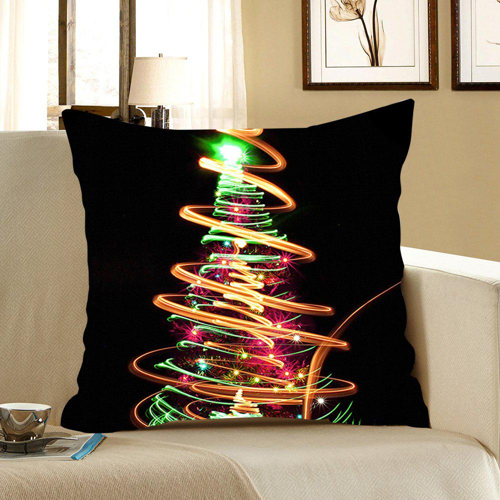 Cheap Colorful Lighting Christmas Tree Printed Decorative Pillow Case
