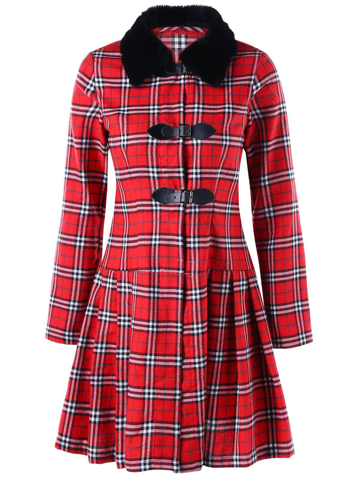 Latest Plus Size Plaid Dress Coat