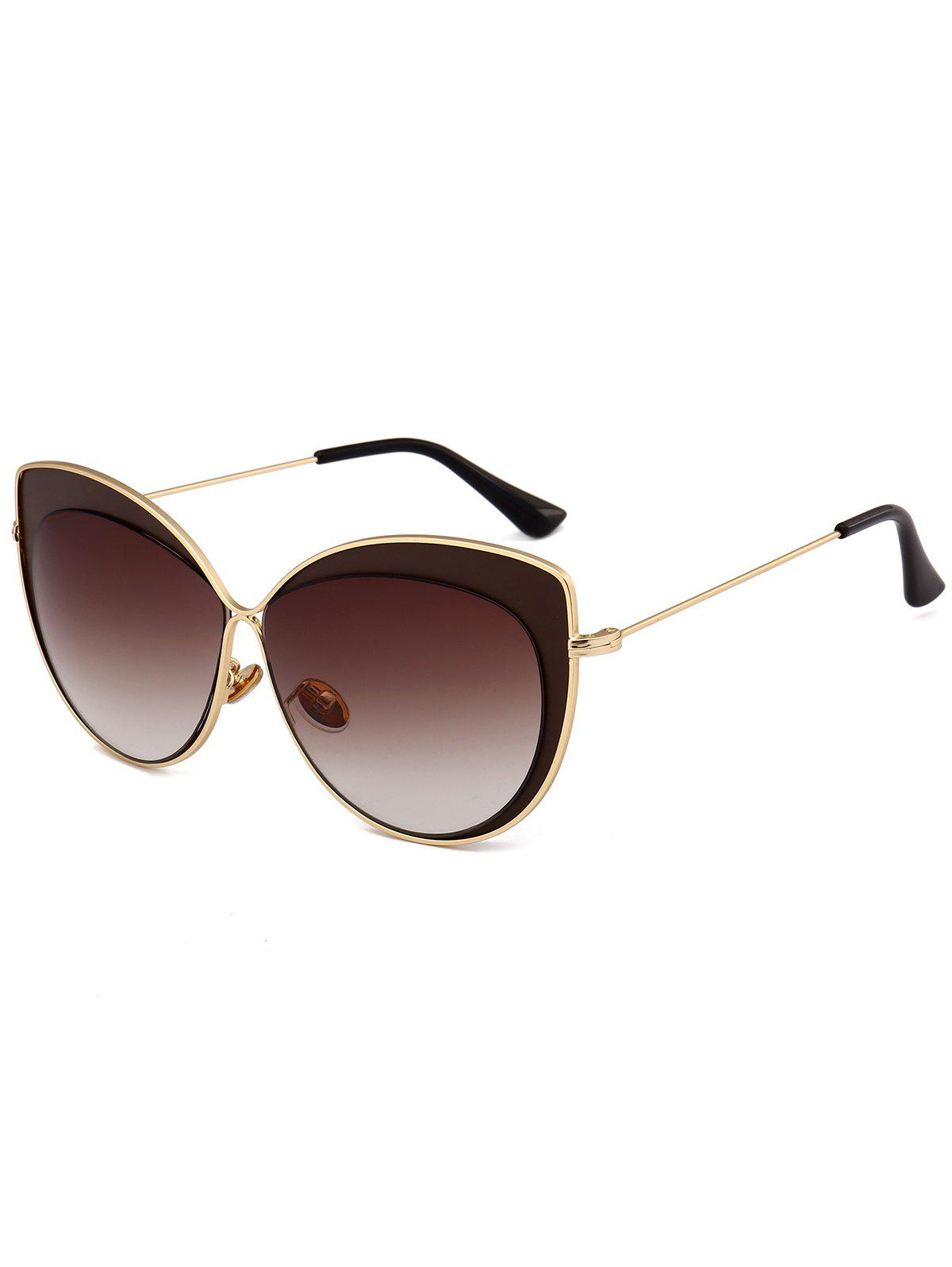 Cheap Vintage Metal Full Frame Embellished Cat Eye Sunglasses