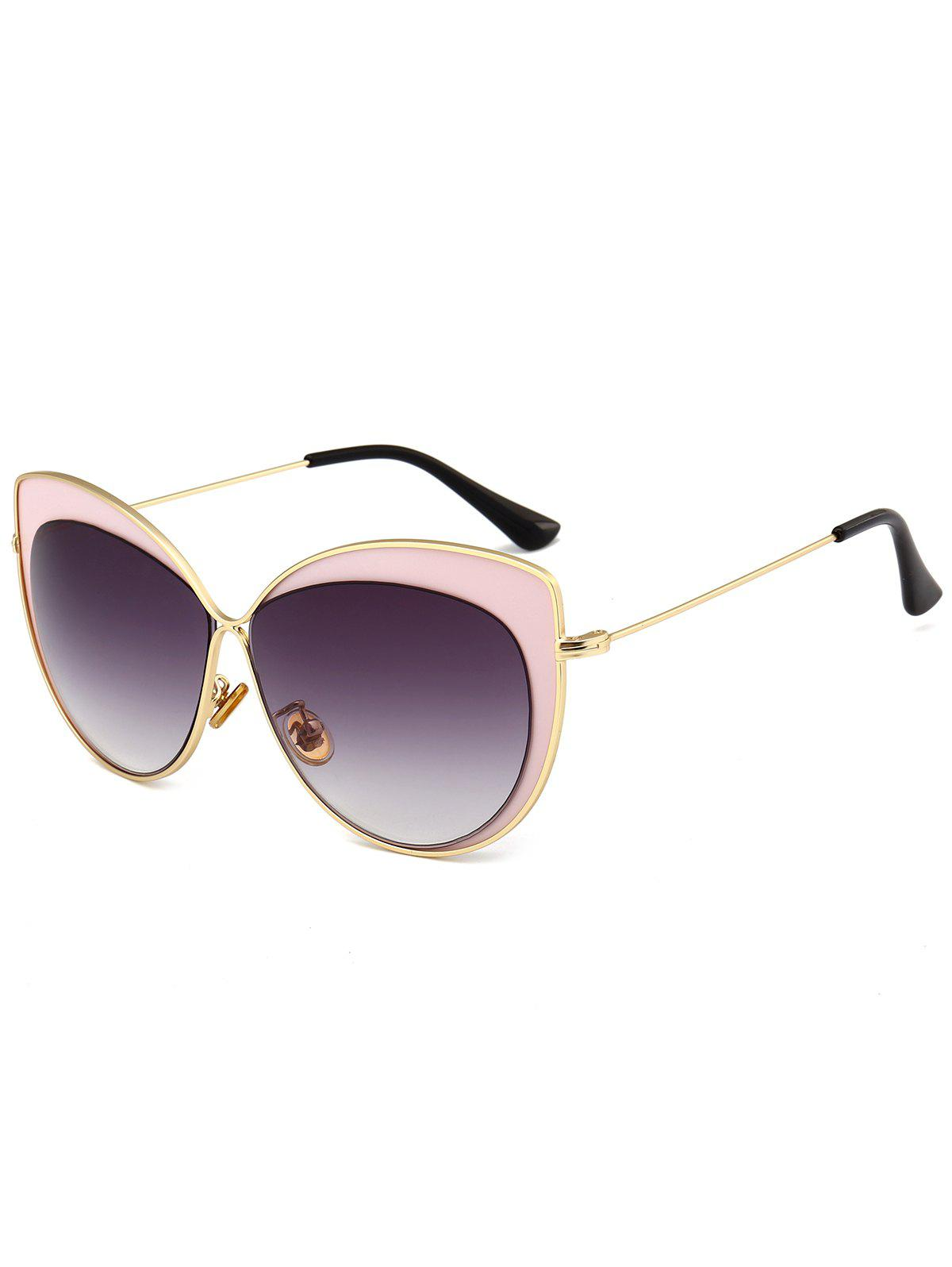 Sale Vintage Metal Full Frame Embellished Cat Eye Sunglasses