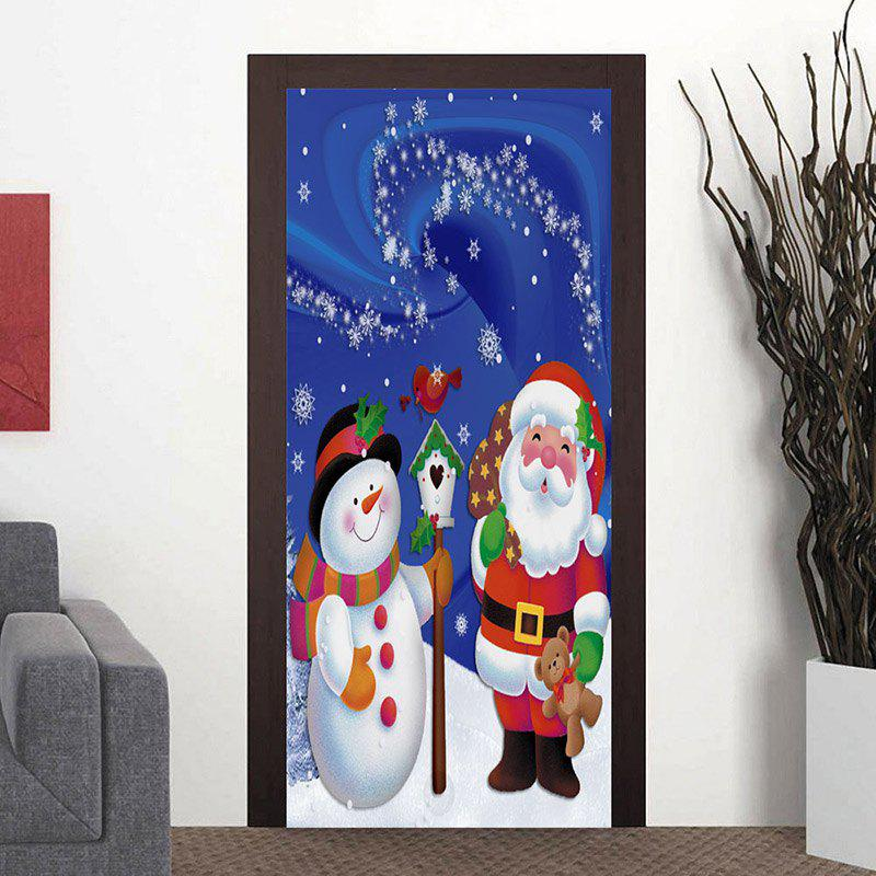 Cheap Christmas Snowman and Santa Claus Pattern Door Art Stickers