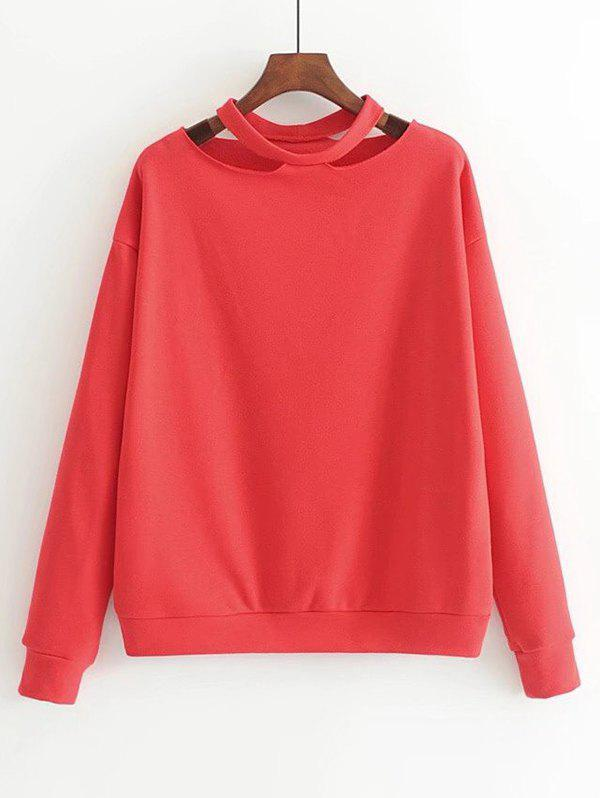 Latest Cut Out Loose Cotton Sweatshirt