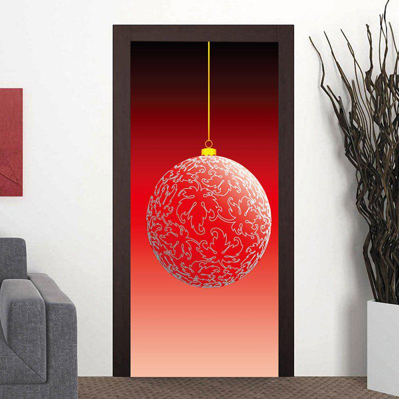 Outfit Christmas Big Ball Ornament Pattern Door Art Stickers