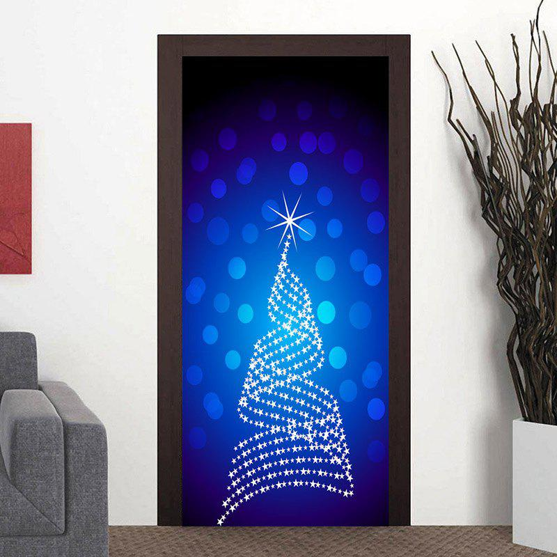 Store Star Dot Embellished Door Cover Stickers