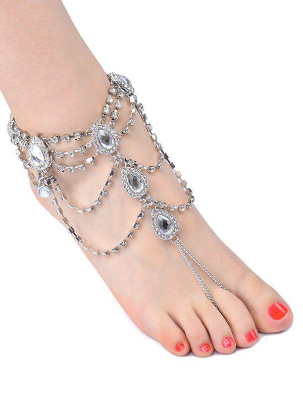 Outfits 1PC Rhinestoned Teardrop Fringed Slave Anklet