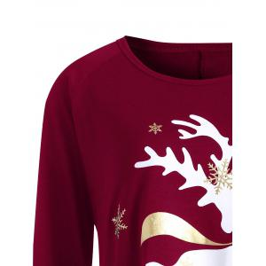 Christmas Deer Plus Size Graphic T-shirt -