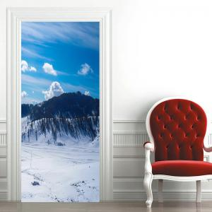 Christmas Snowscape Pattern Door Cover Stickers -