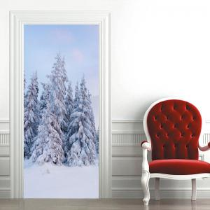 Snowscape Pattern Door Cover Stickers -
