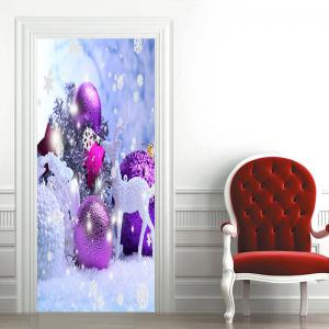 Christmas Decorations Pattern Door Cover Stickers -