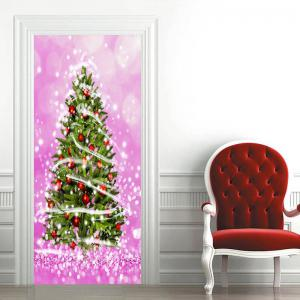 Christmas Tree Pattern Home Decor Door Stickers -