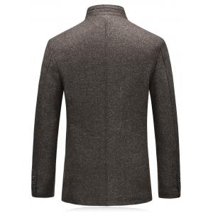 Single Breasted Padded Woolen Blazer -