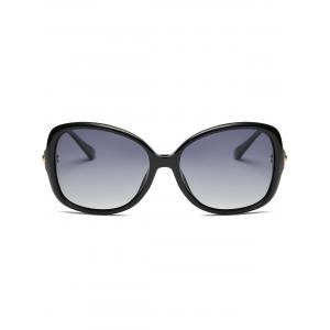 Vintage Hollow Out Metal Frame Embellished Oversized Sunglasses -