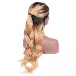 Long Free Part Wavy Ombre Lace Front Synthetic Wig -