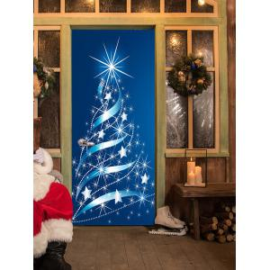 Christmas Stars Tree Pattern Door Cover Stickers -