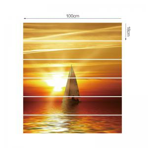 Sailing Boat Sunset Printed Decorative Stair Stickers -