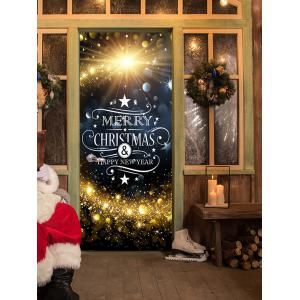 Christmas Starlight Greetings Pattern Door Cover Stickers -