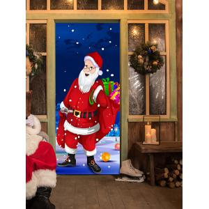 Christmas Santa Presents Pattern Door Cover Stickers -
