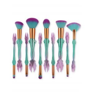 Professional 10Pcs Ultra Soft Fiber Hair Makeup Brush Kit -