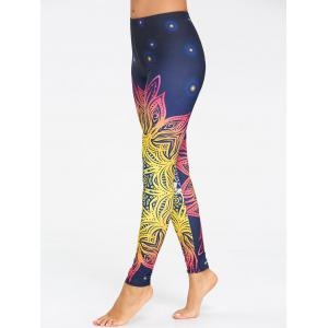 Floral Ombre Print Yoga Leggings -