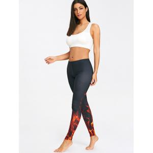 Fire 3D Printed Workout Tights -