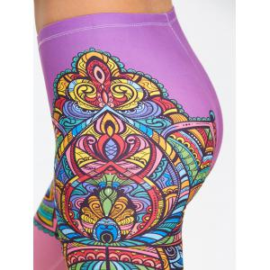 Floral Mandalay Ombre Printed Yoga Leggings -