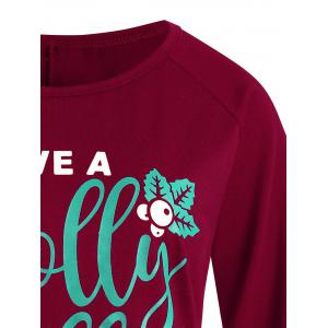 Graphic Plus Size Christmas  Long Sleeve Tee -