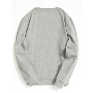 Fleece Lining Mens Crew Neck Sweatshirt -
