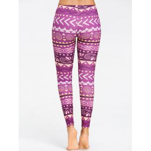 Breathable Chevron Pattern Yoga Tights -