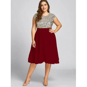 Plus size red cocktail dresses with sleeves