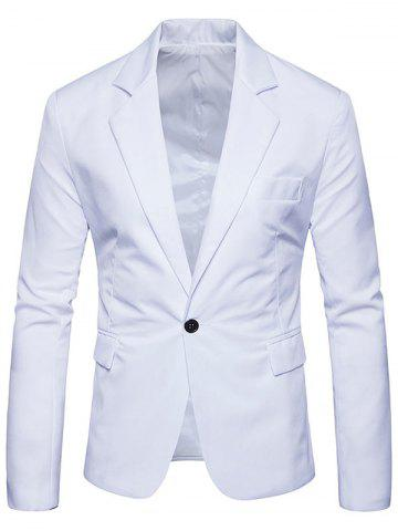 Fancy Flap Pocket One Button Lapel Blazer