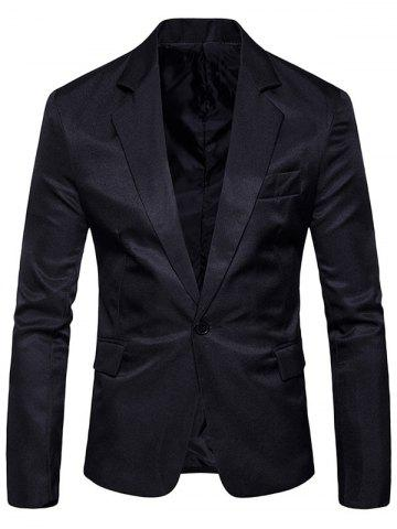 Shops Flap Pocket One Button Lapel Blazer
