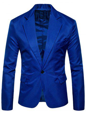 Trendy Flap Pocket One Button Lapel Blazer