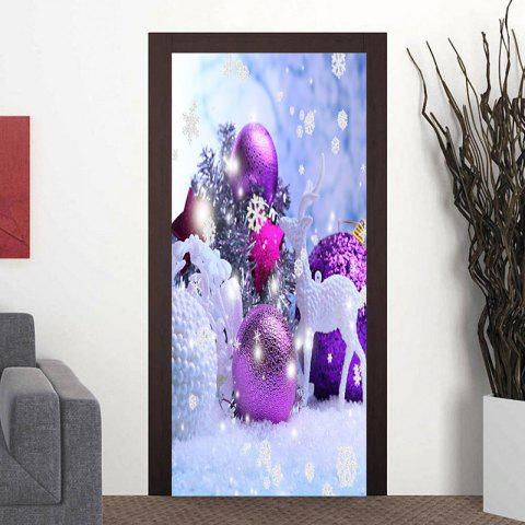 Chic Christmas Decorations Pattern Door Cover Stickers