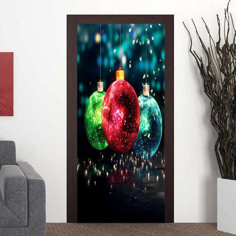 Outfits Christmas Balls Pattern Decorative Door Art Stickers