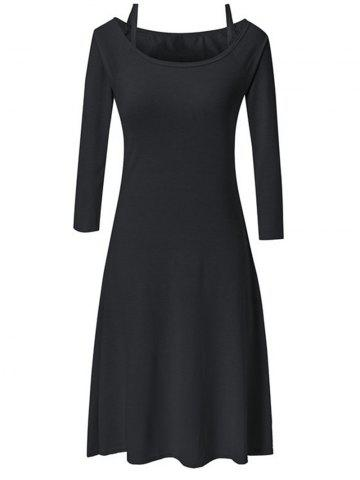 Long Sleeve Slim Fit and Flare Dress