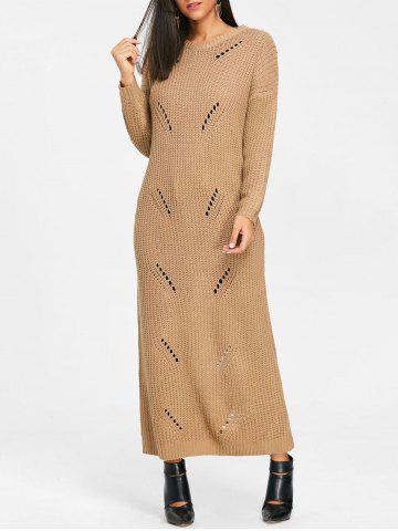 Discount Long Chunky Knit  Ripped Dress
