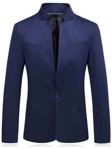 Hot Stand Collar Slim Fit One Button Blazer